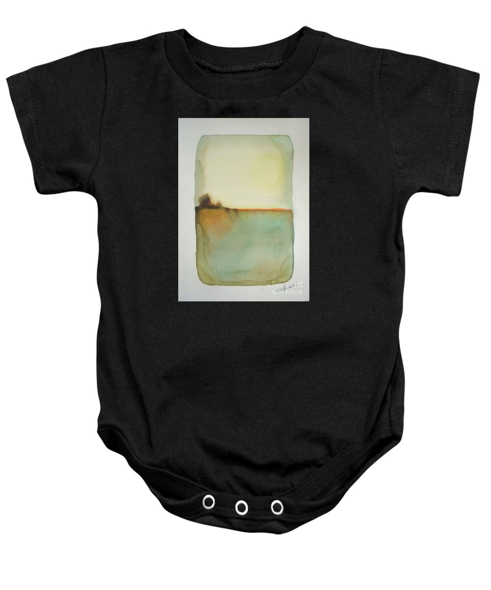 Abstract Baby Onesie featuring the painting Sunny Day by Vesna Antic