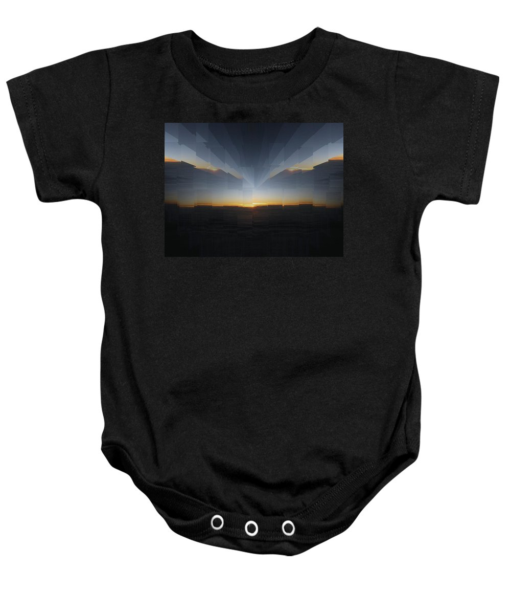 Sunrise Baby Onesie featuring the photograph Sunrise At 30k 10 by Tim Allen