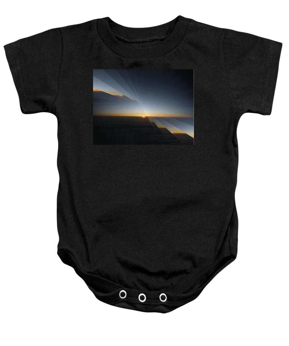 Sunrise Baby Onesie featuring the photograph Sunrise At 30k 4 by Tim Allen
