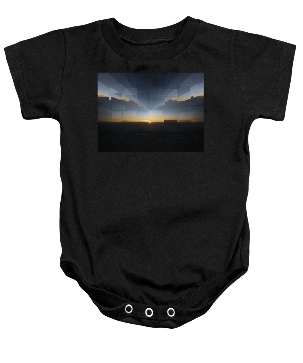 Sunrise Baby Onesie featuring the photograph Sunrise At 30k 8 by Tim Allen