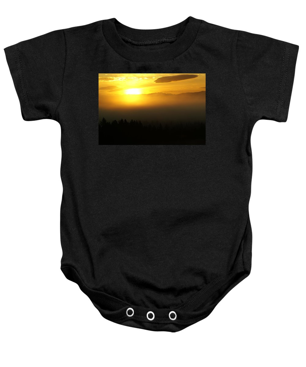 Nature Baby Onesie featuring the photograph Sunrise by Ben Upham III