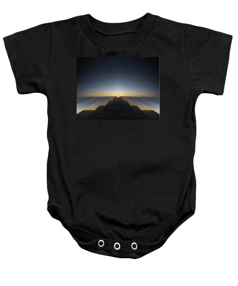 Sunrise Baby Onesie featuring the digital art Sunrise From 30k 3 by Tim Allen