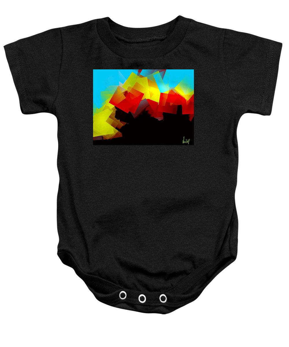Sunrise Baby Onesie featuring the digital art Sunrise by Helmut Rottler