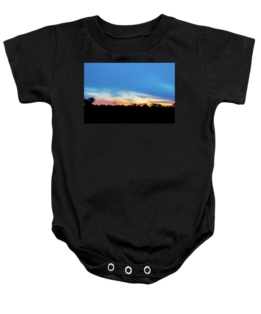 Picturesque Baby Onesie featuring the photograph Sunrise Landscape In Zambia by Marek Poplawski