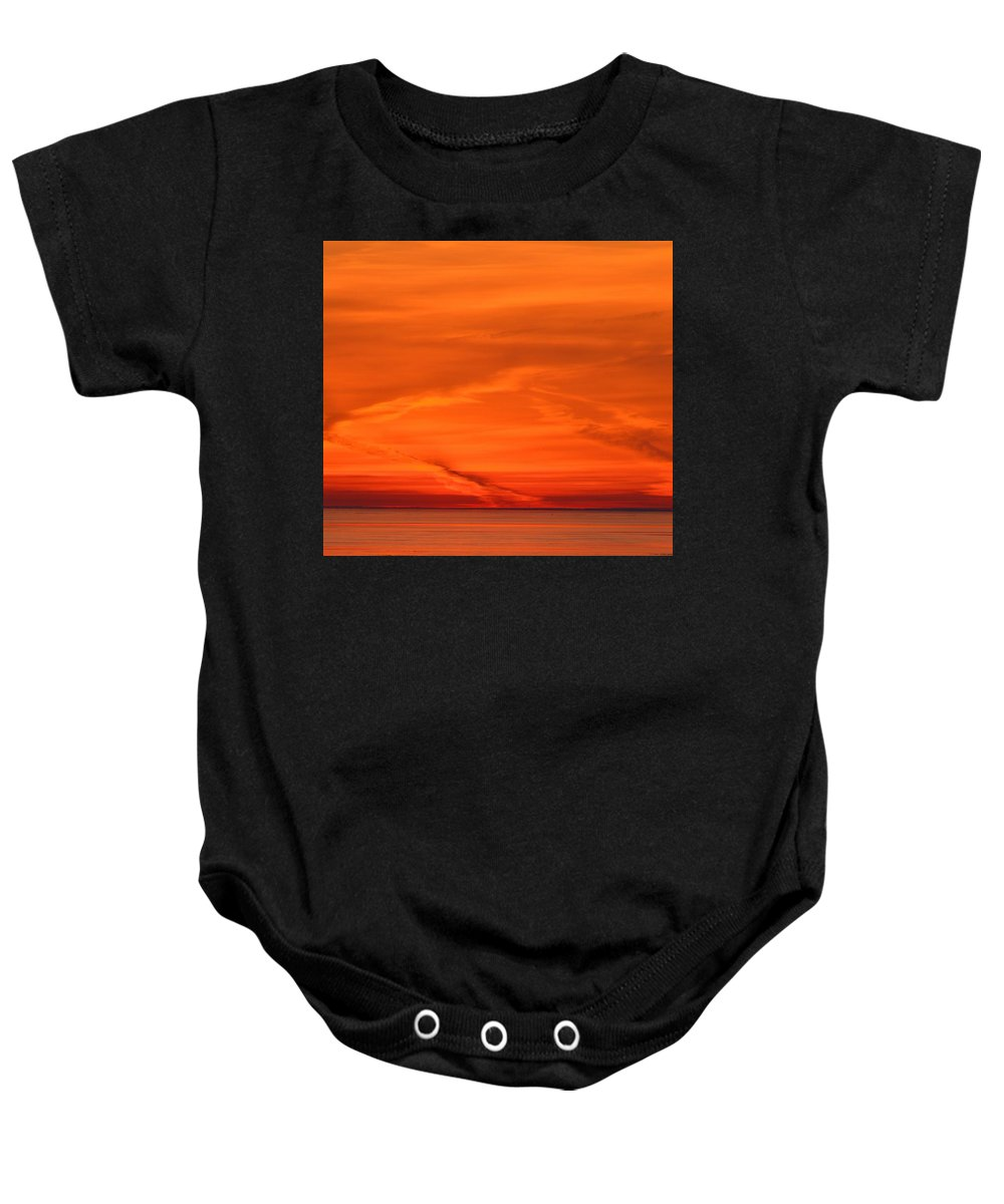 Abstract Baby Onesie featuring the photograph Sunrise Layers by Lyle Crump