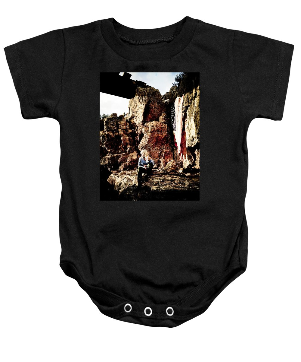 American Flag Baby Onesie featuring the photograph Sunrise Or Sunset by Scott Sawyer
