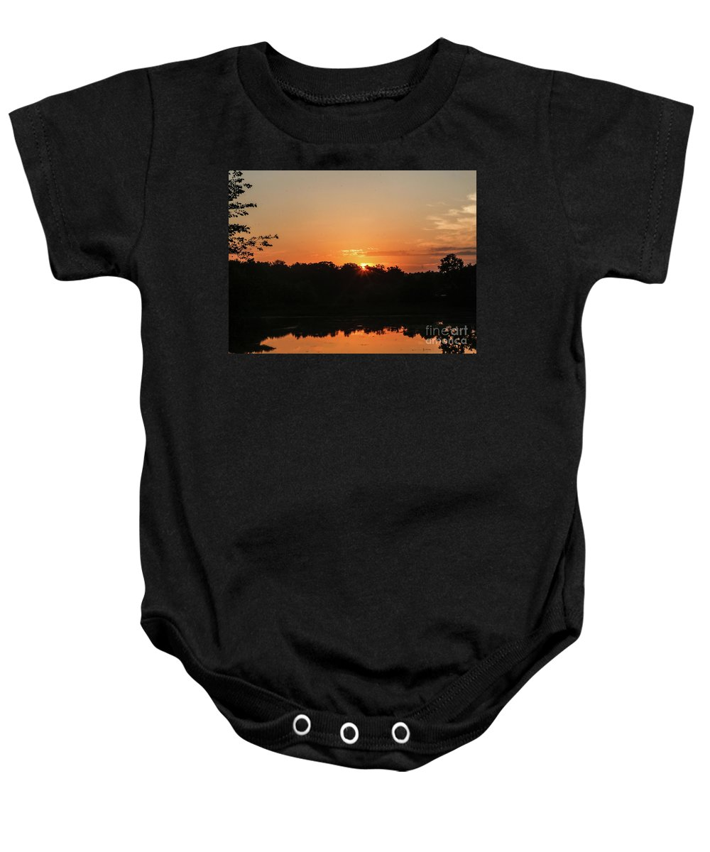 Sunrise Baby Onesie featuring the photograph Sunrise Over E Bay by Jo Anne Keasler