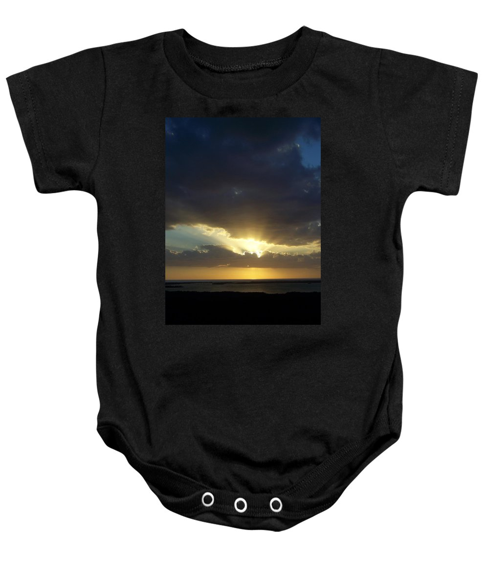 Sunset Baby Onesie featuring the photograph Sunset 0023 by Laurie Paci