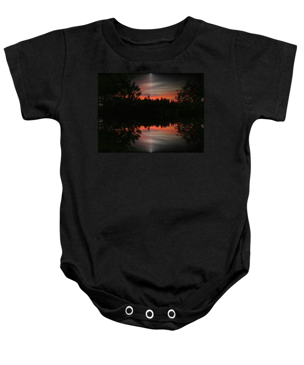Sunset Baby Onesie featuring the photograph Sunset 4 by Tim Allen