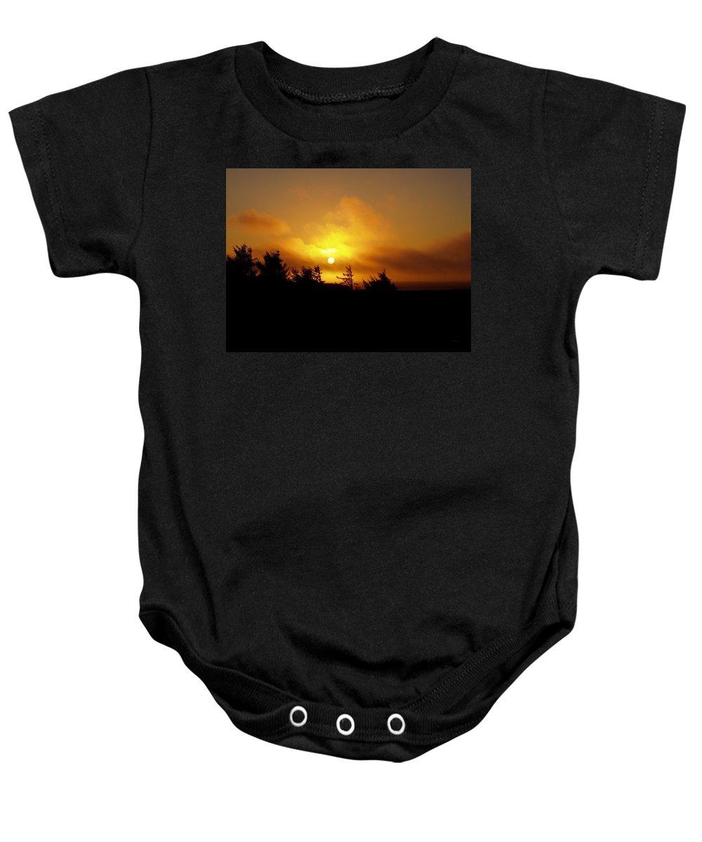Sunset Baby Onesie featuring the photograph Sunset by Deborah Crew-Johnson