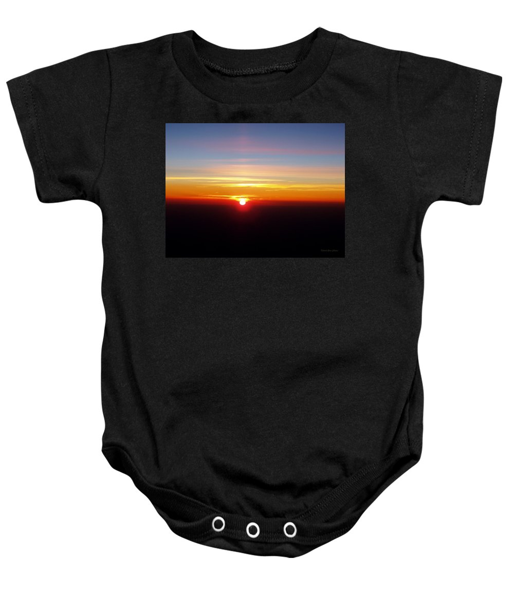 Pastel Baby Onesie featuring the photograph Sunset II by Deborah Crew-Johnson