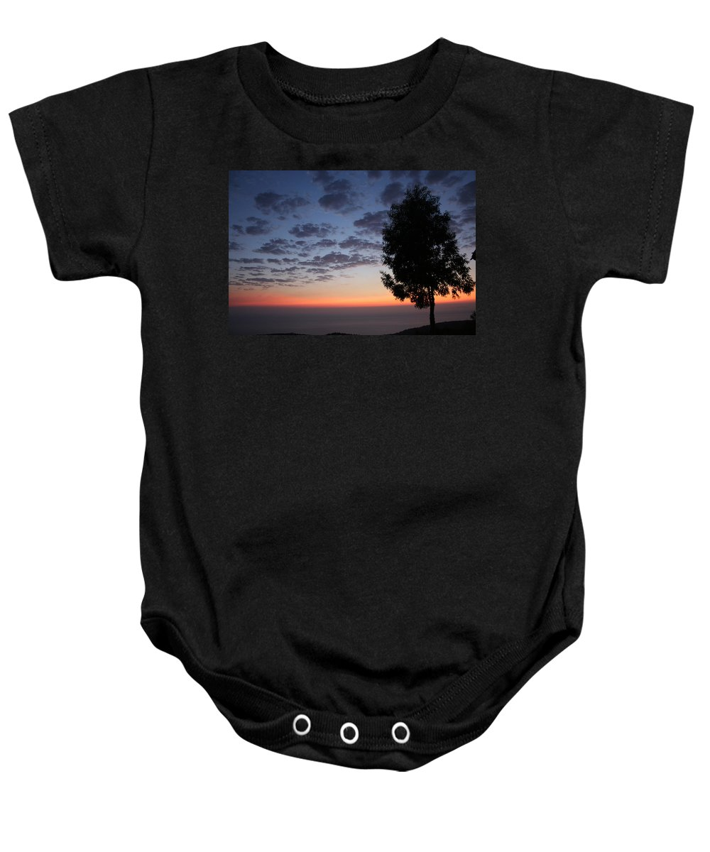 Avgonyma Baby Onesie featuring the photograph Sunset In Avgonyma by Yesim Tetik