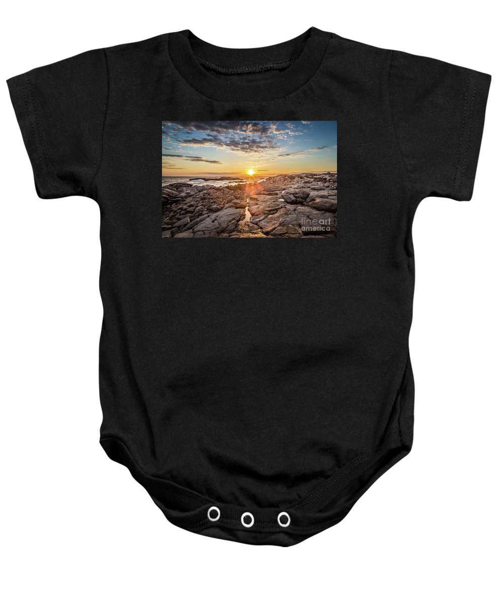 Sunset Baby Onesie featuring the photograph Sunset In Prospect, Nova Scotia by Mike Organ