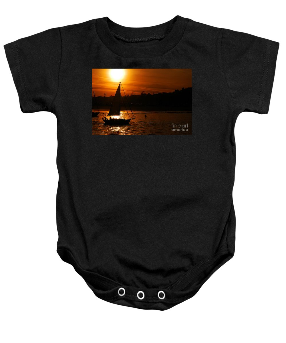 Clay Baby Onesie featuring the photograph Sunset In Southern California by Clayton Bruster