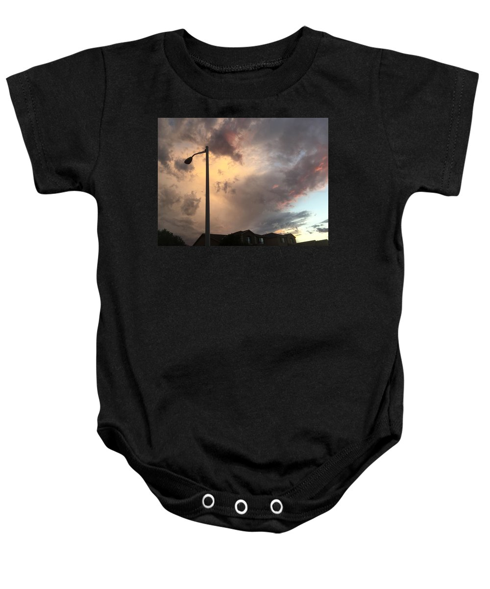 Landscape Baby Onesie featuring the photograph Sunset by Kirsten S