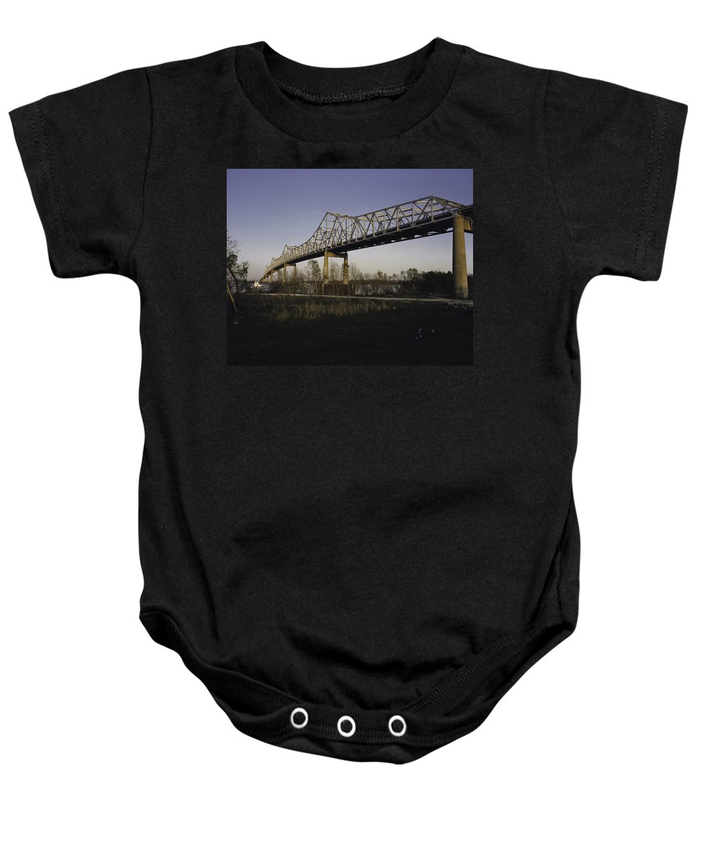 Bridge Baby Onesie featuring the photograph Sunshine Bridge by Herman Robert