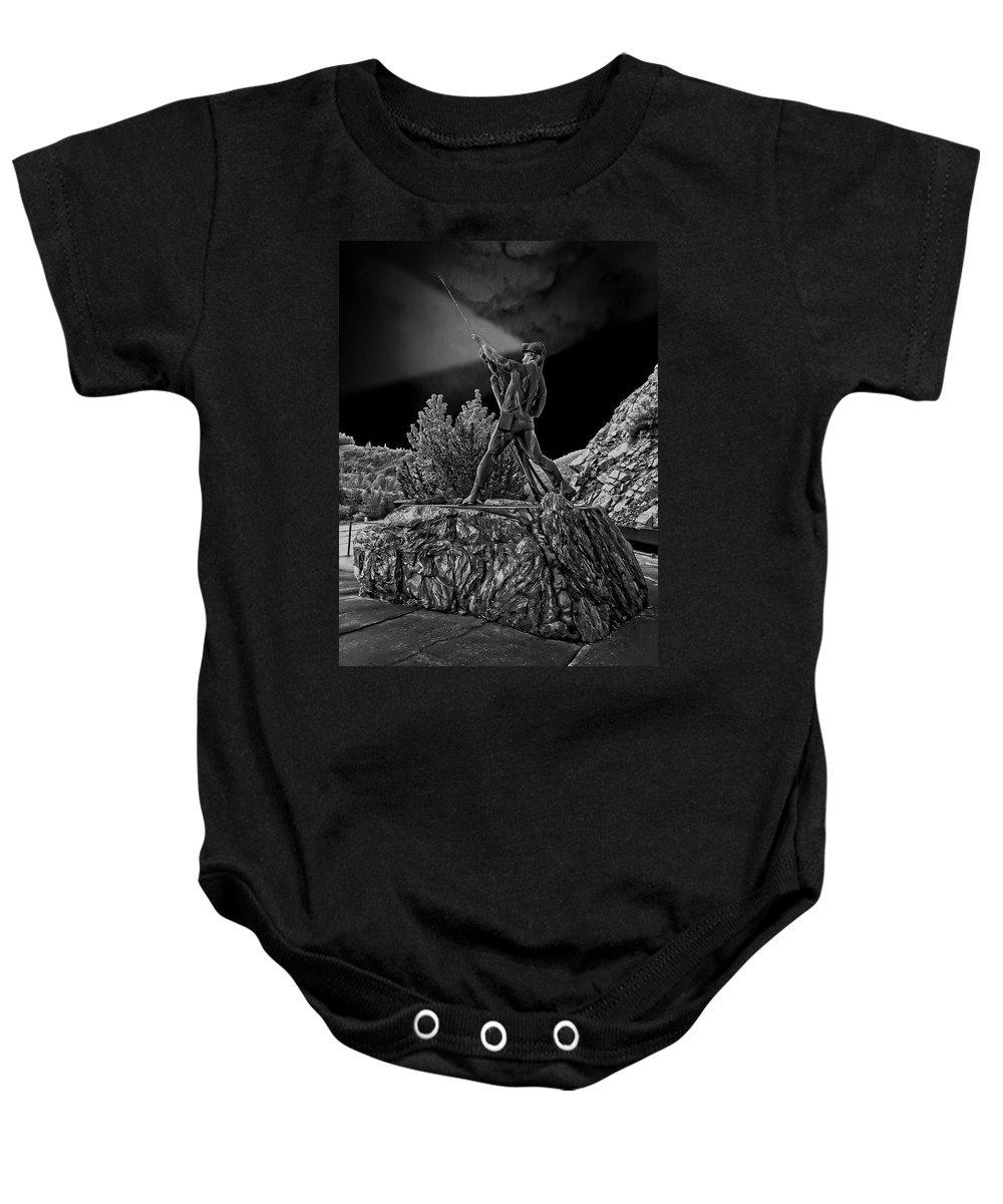 Sunshine Baby Onesie featuring the photograph Sunshine Mine Disaster Memorial - Idaho State by Daniel Hagerman