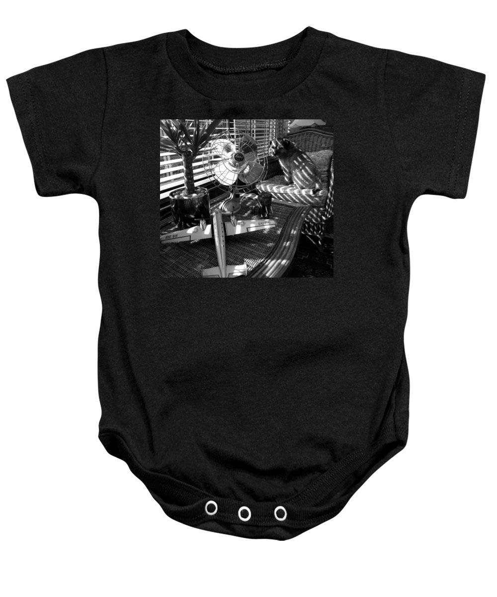 Still Life Baby Onesie featuring the painting Surburban Safari With Toto by Charles Stuart
