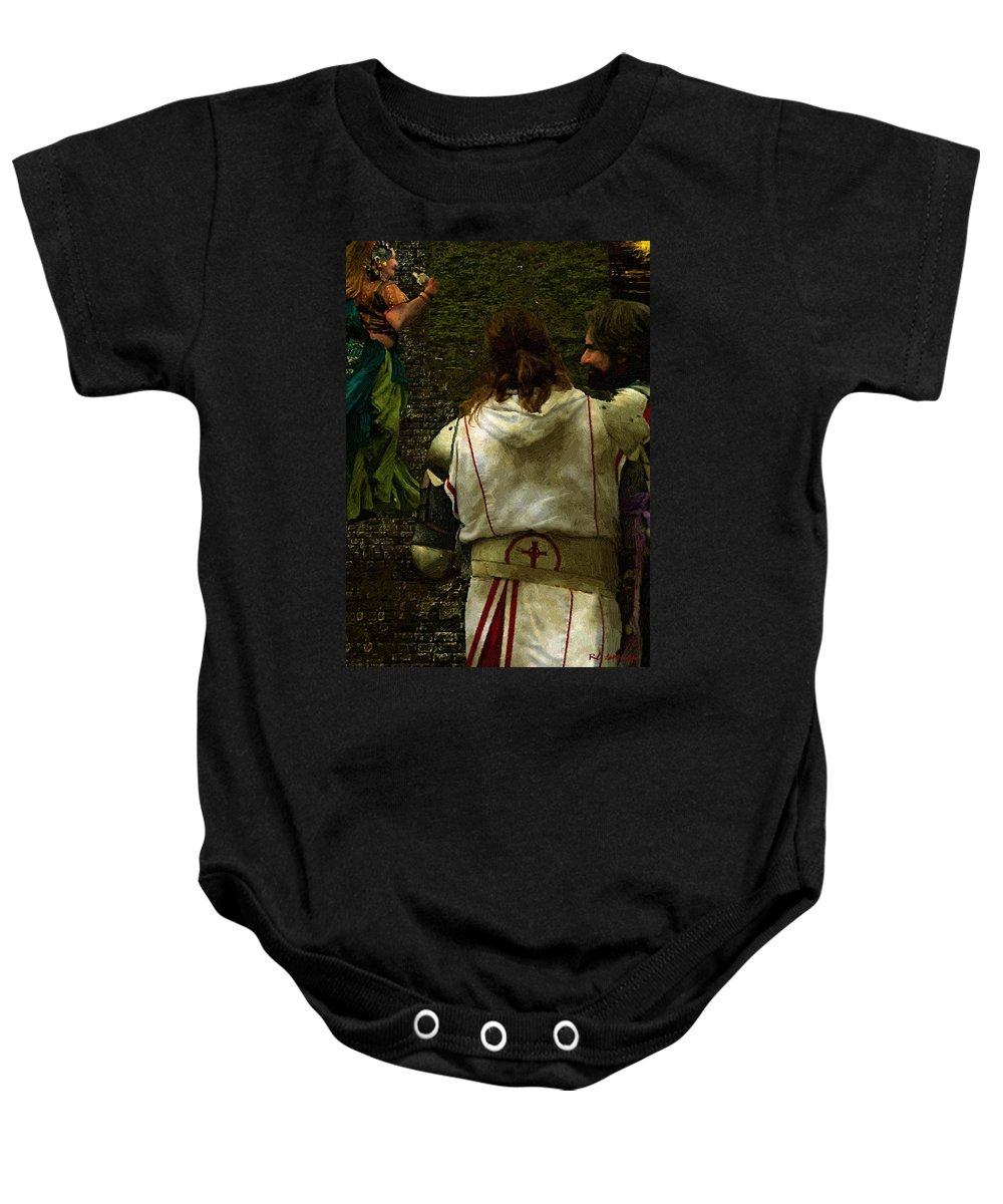 Building Baby Onesie featuring the painting Surely We Can Do Better Man by RC DeWinter