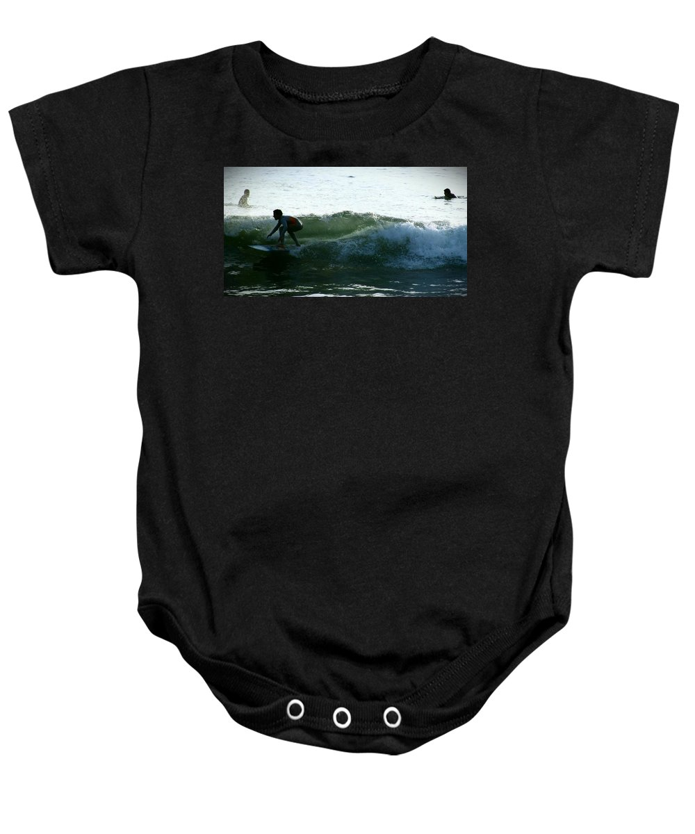 Surf Baby Onesie featuring the photograph Surf by Stephanie Haertling