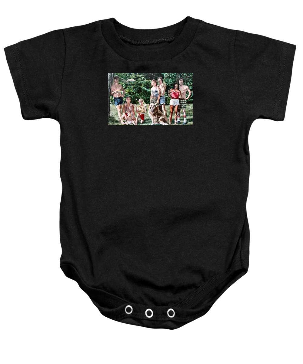 Woman Baby Onesie featuring the painting Surface Tension by Dave Martsolf