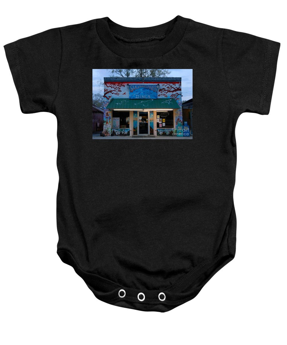 Suwanee River Baby Onesie featuring the photograph Suwannee River Diner by David Lee Thompson