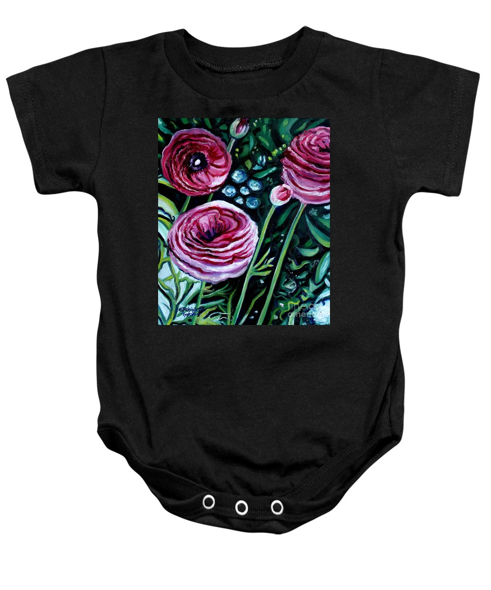 Garden Baby Onesie featuring the painting Sweet Delight by Elizabeth Robinette Tyndall