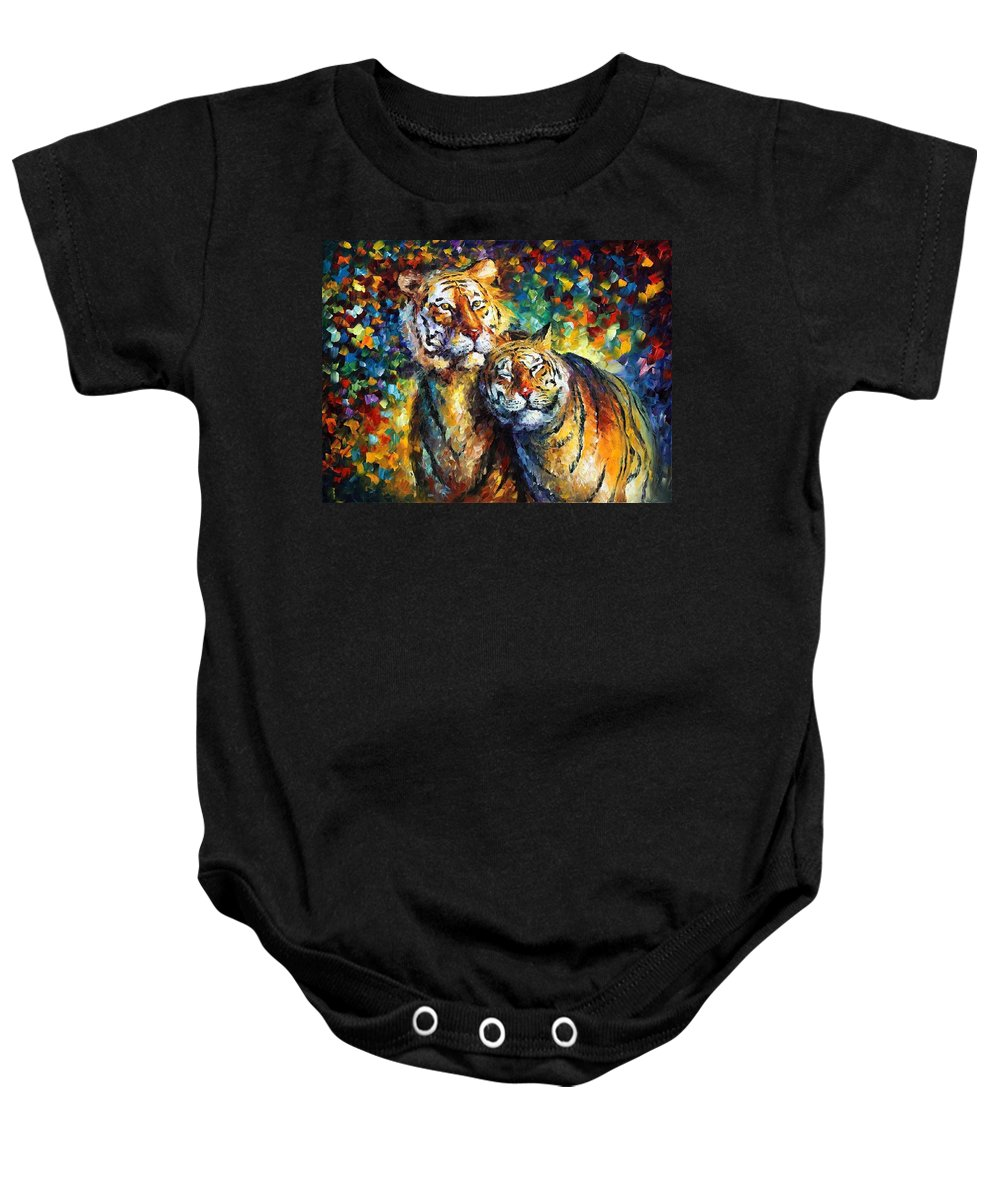 Afremov Baby Onesie featuring the painting Sweetness by Leonid Afremov