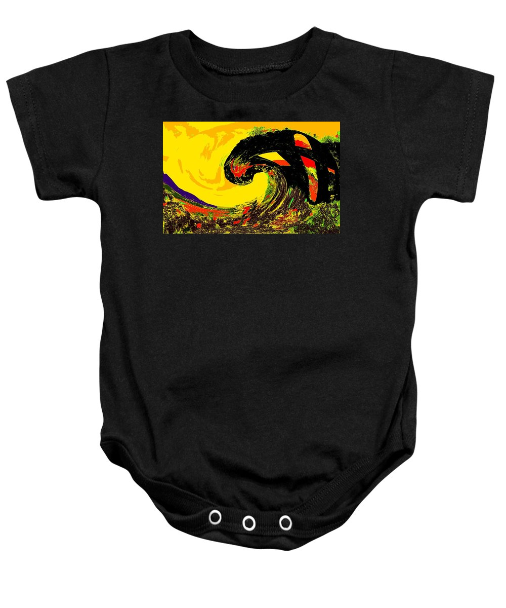 Abstract Baby Onesie featuring the photograph Swept Away by Ian MacDonald
