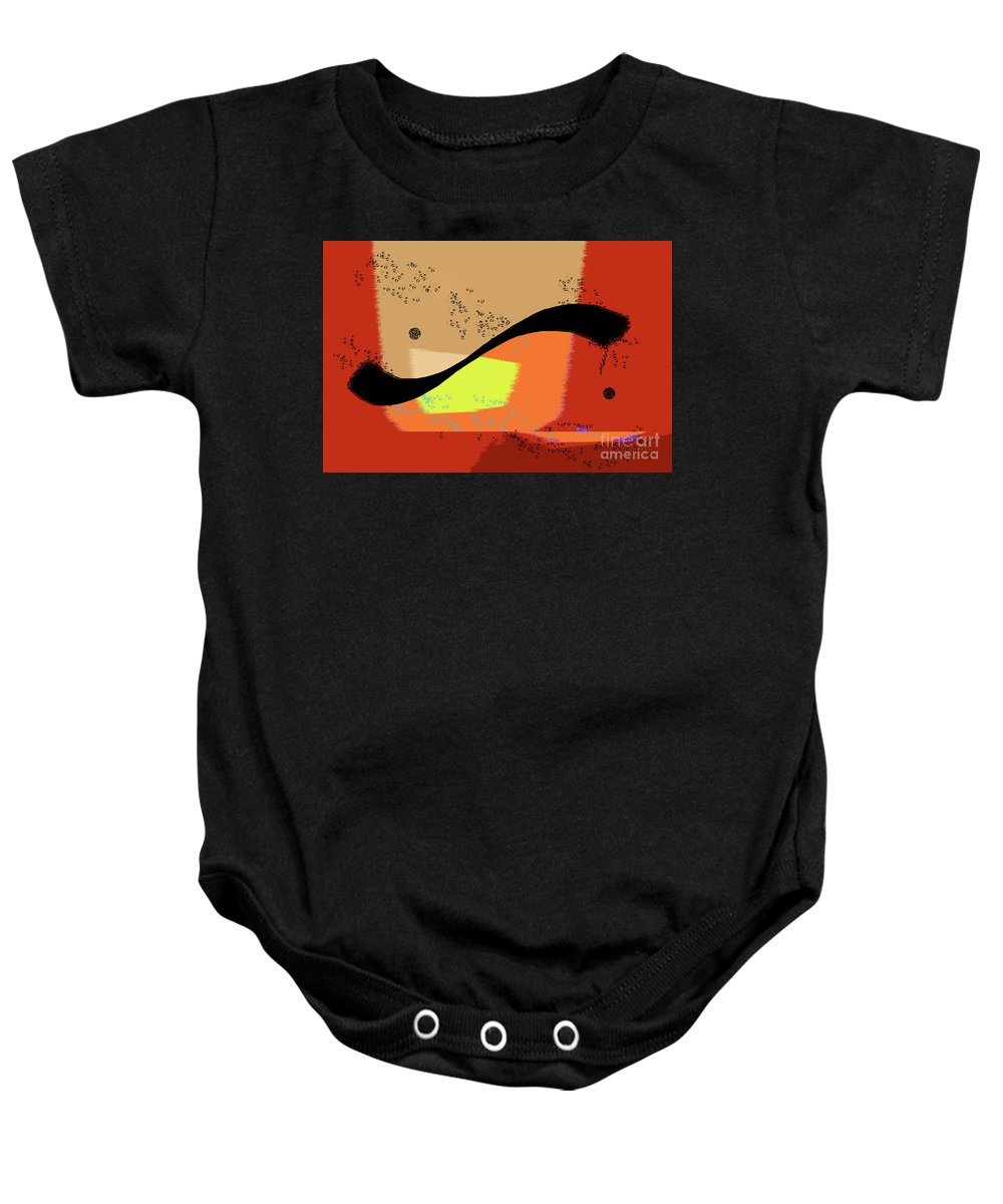 Abstract Baby Onesie featuring the photograph Swoosh, Abstract by Michael Ziegler