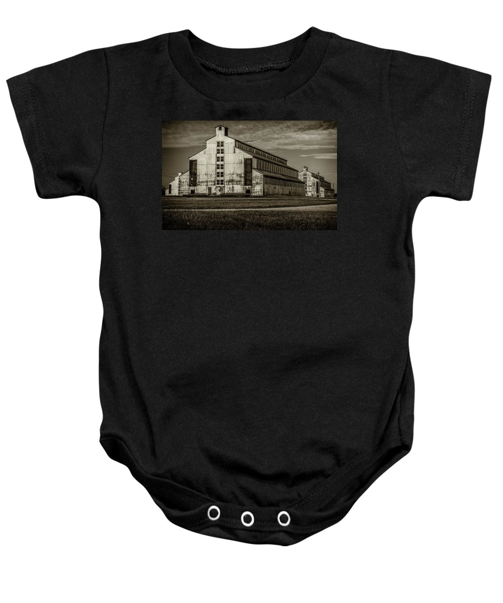 Baby Onesie featuring the photograph T W Samuels Rack House by Jim Figgins