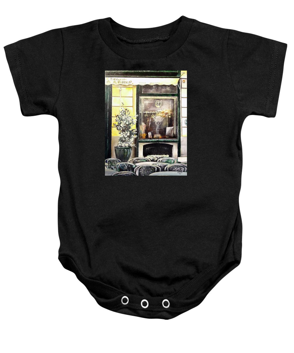 Old Baby Onesie featuring the painting Taberna Del Alabardero-madrid by Tomas Castano