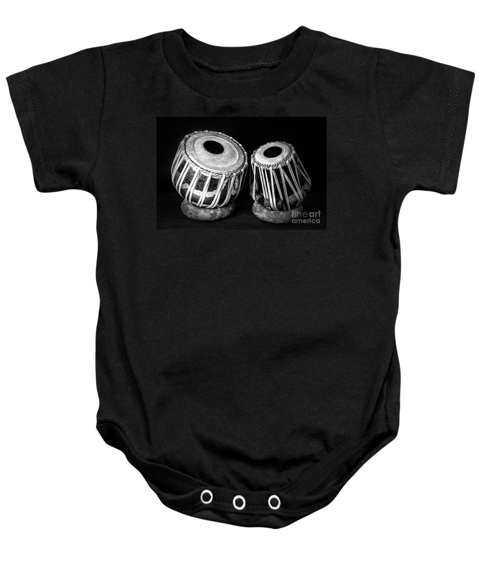 Tabla Baby Onesie featuring the photograph Tabla by Charuhas Images