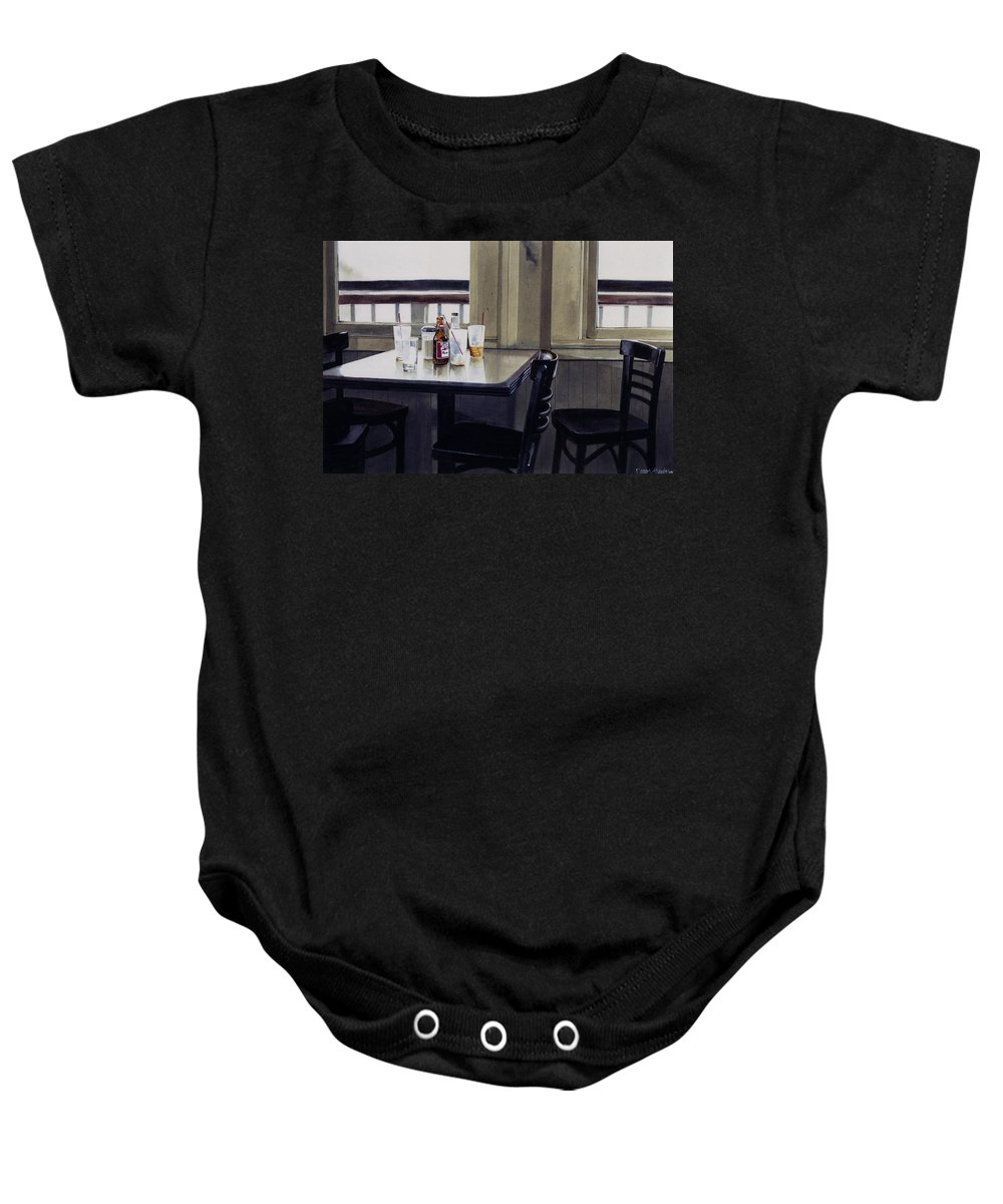 Beer Baby Onesie featuring the painting Table Setting by Denny Bond