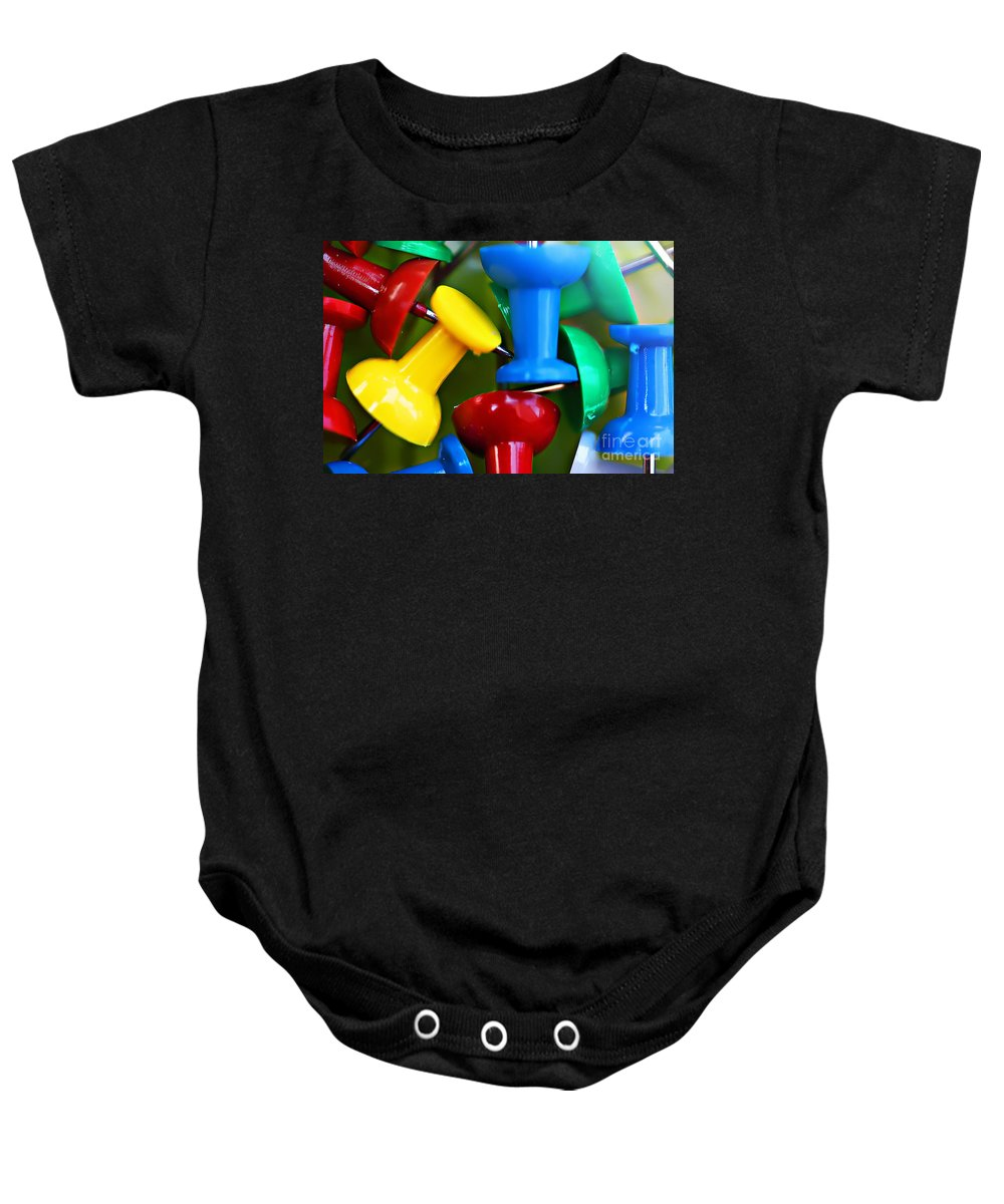 Clay Baby Onesie featuring the photograph Tacky Art by Clayton Bruster