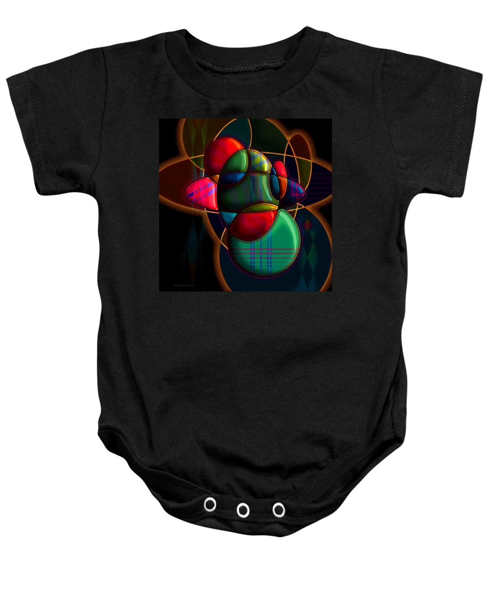 Modern Baby Onesie featuring the digital art Tactile Space I by Stephen Lucas