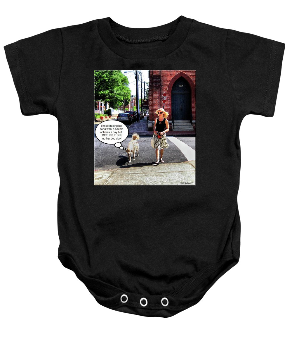 2d Baby Onesie featuring the photograph Taking Her Out For A Stroll by Brian Wallace