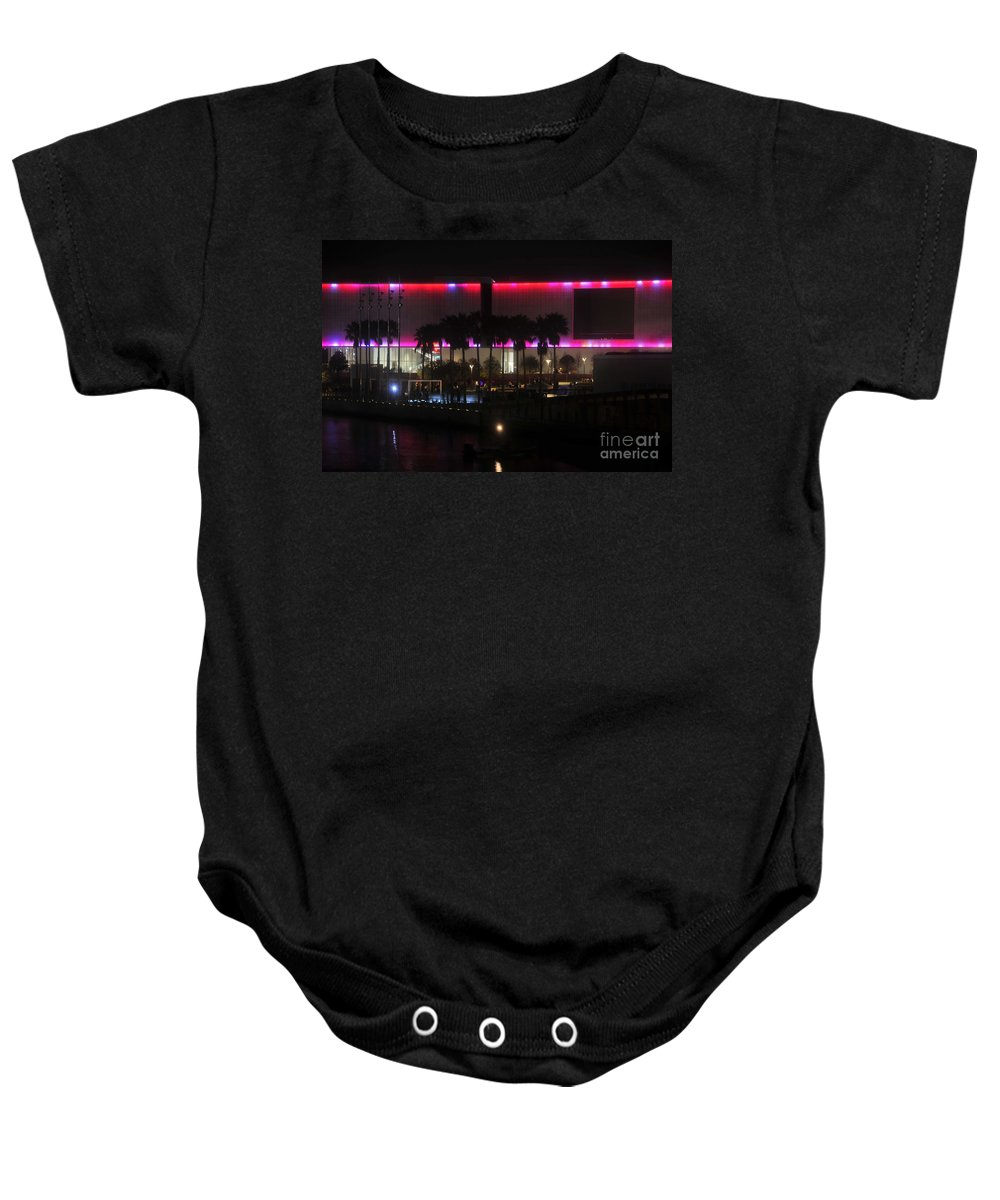 Tampa Museum Of Art Baby Onesie featuring the photograph Tampa Museum Of Art by David Lee Thompson