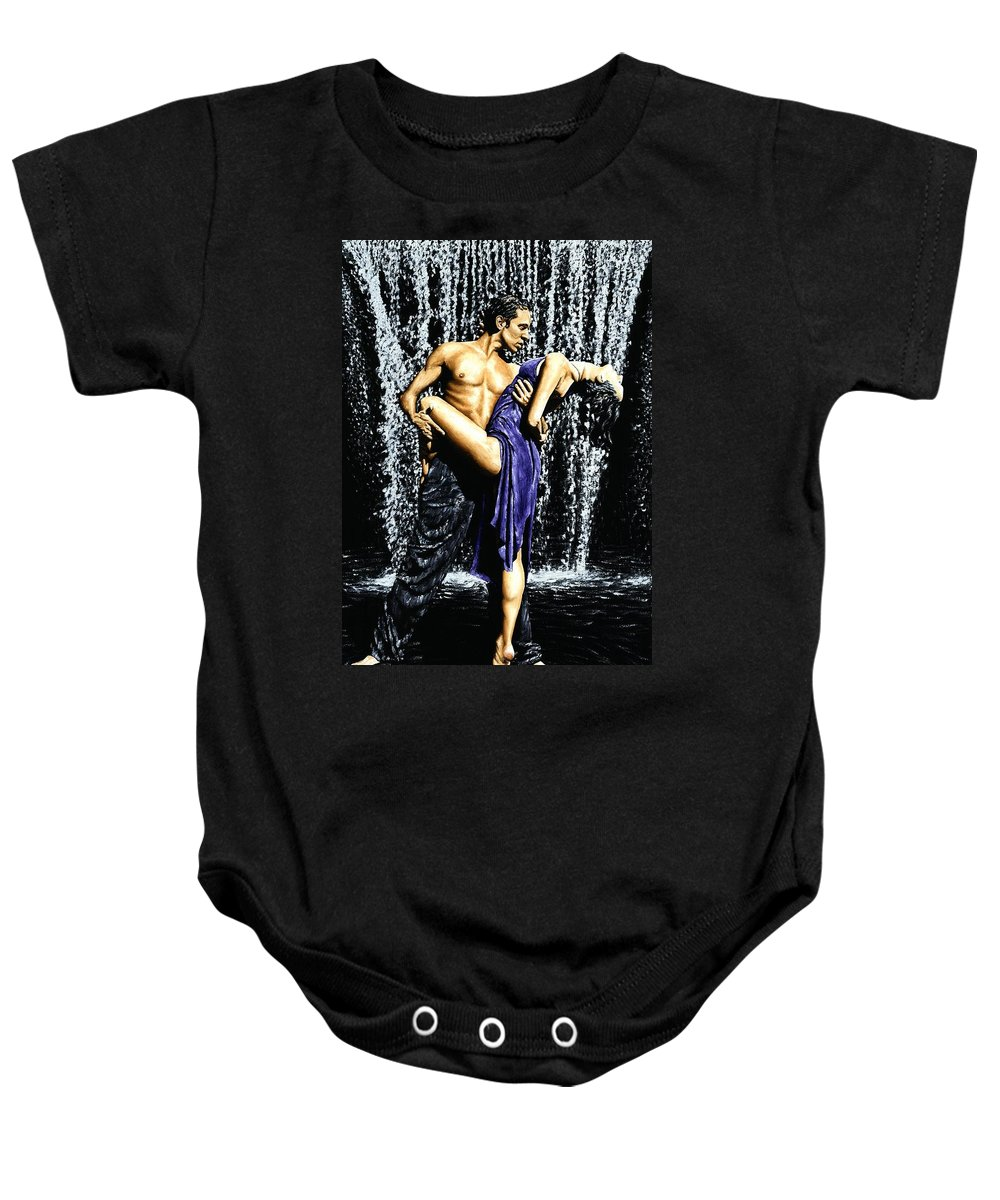 Tango Baby Onesie featuring the painting Tango Cascade by Richard Young