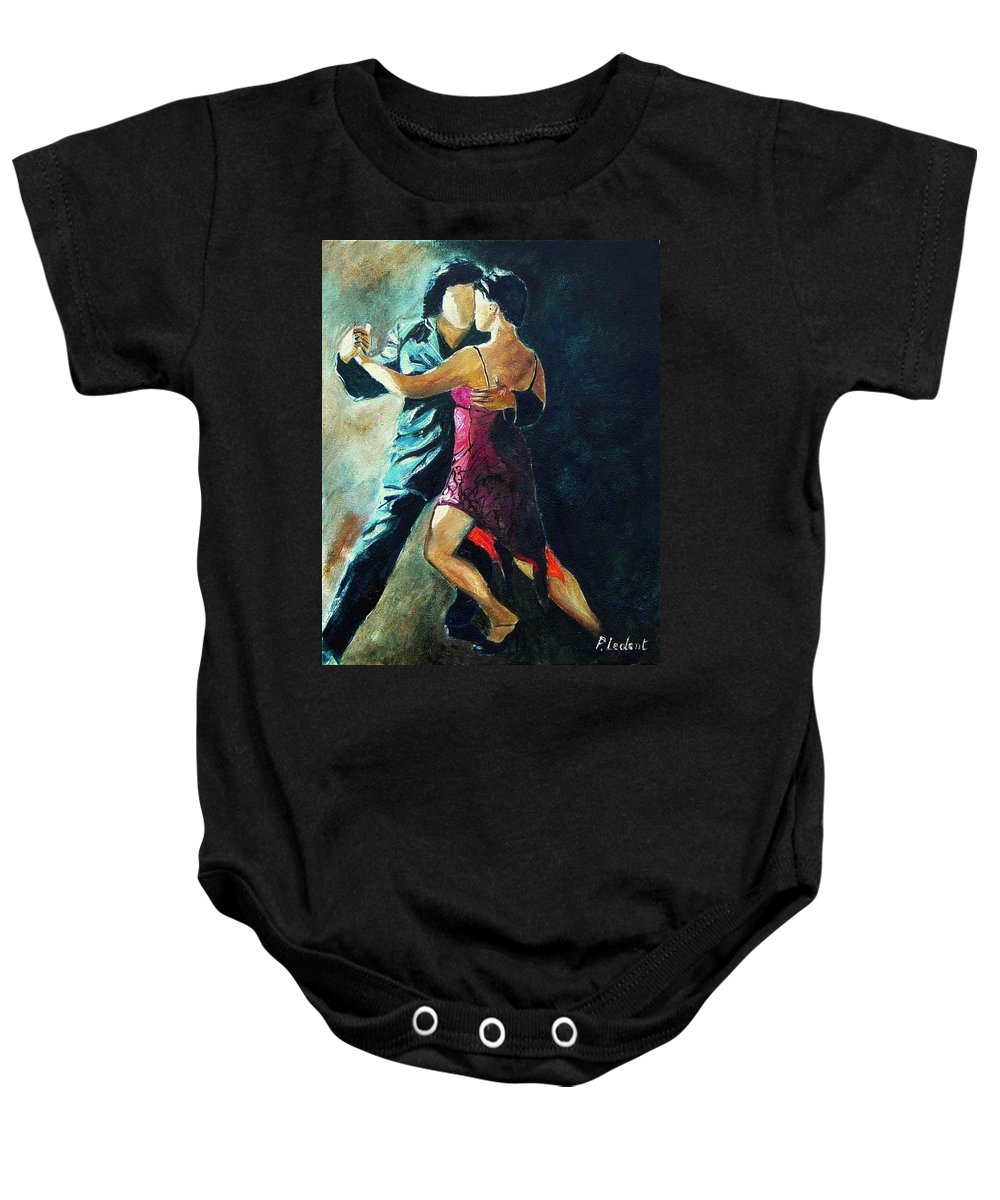 Tango Baby Onesie featuring the painting Tango by Pol Ledent