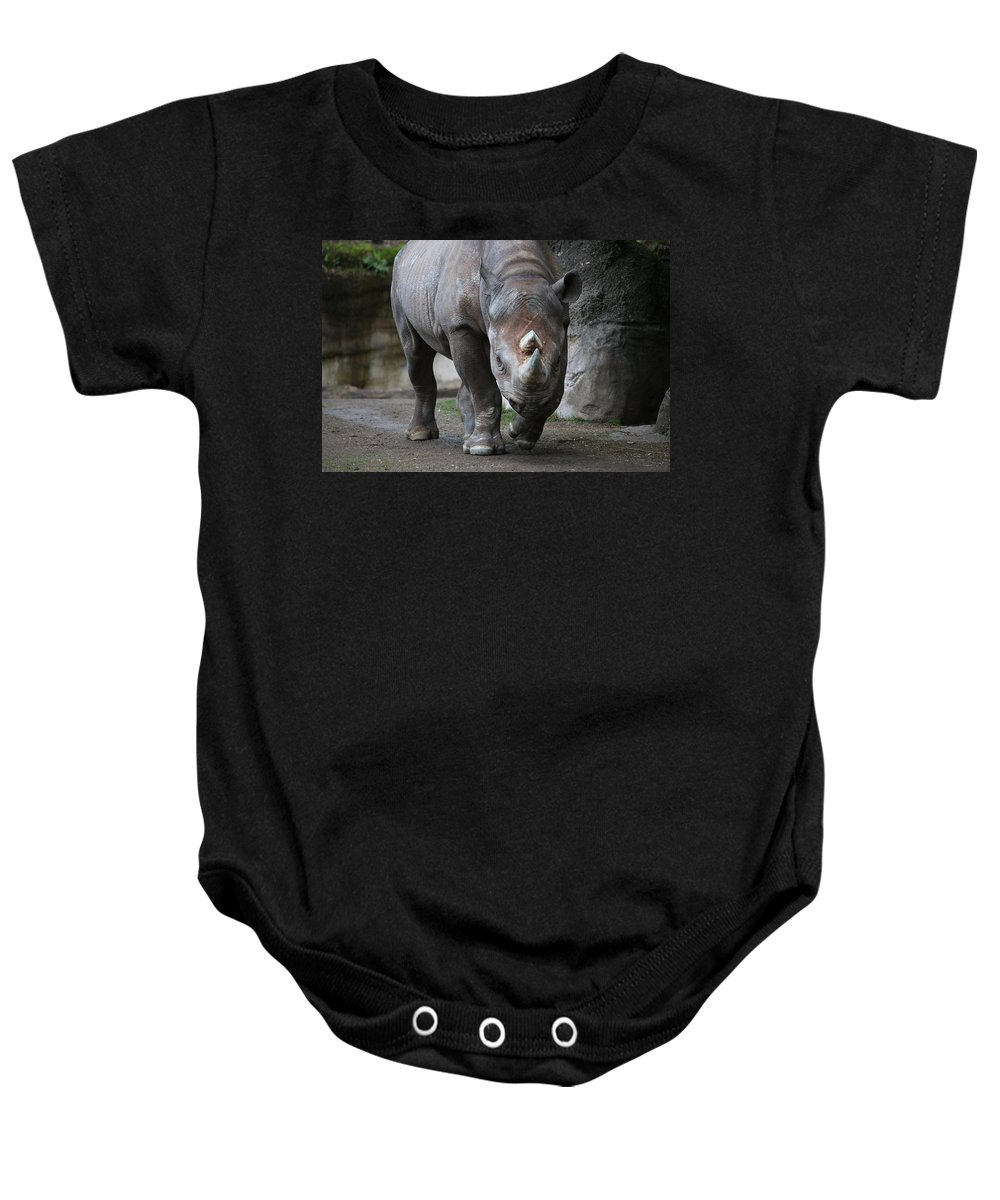 Baby Onesie featuring the photograph Tank by Crooked Cat Art and Photography