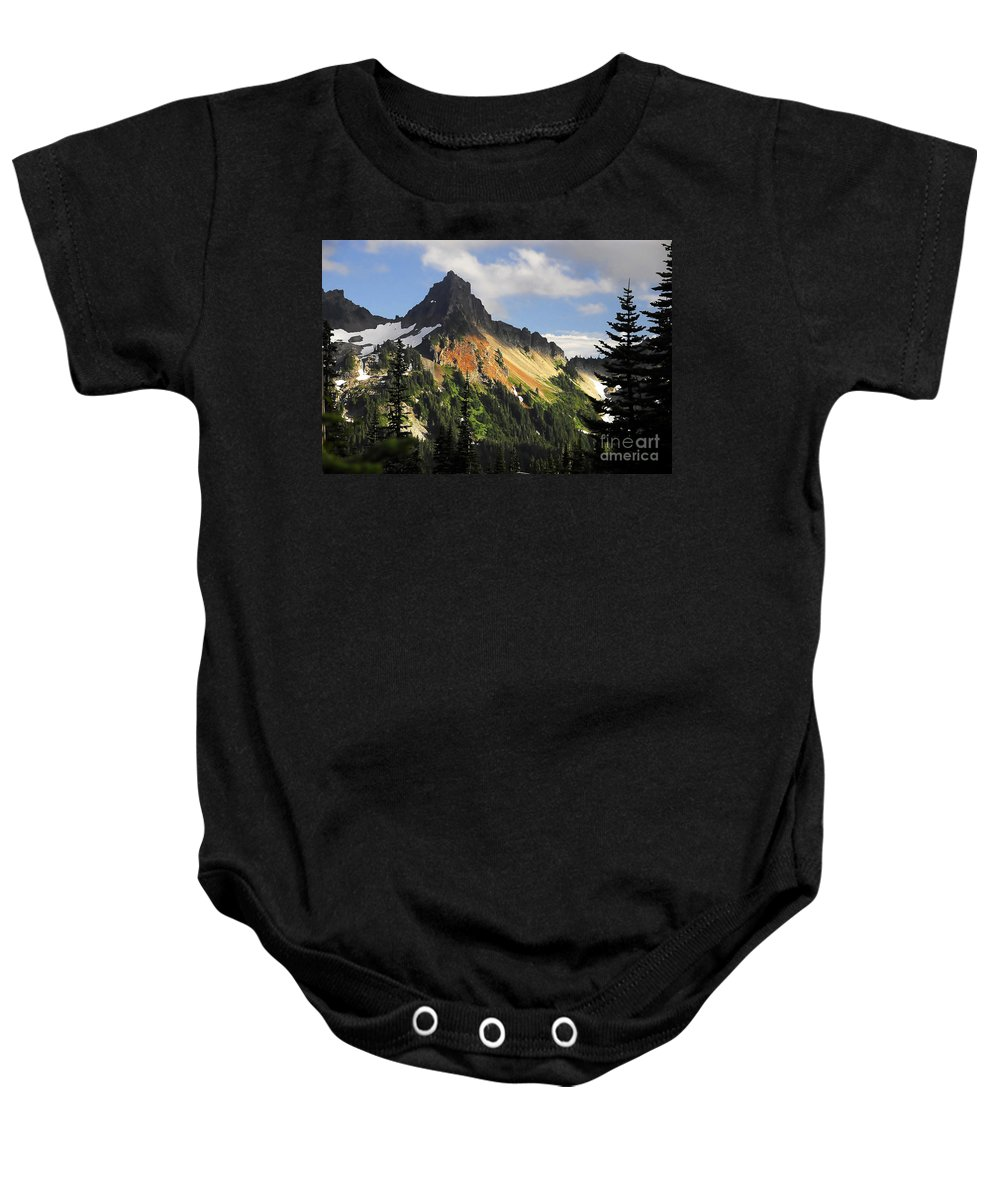 Mountains Baby Onesie featuring the photograph Tatosh Range by David Lee Thompson
