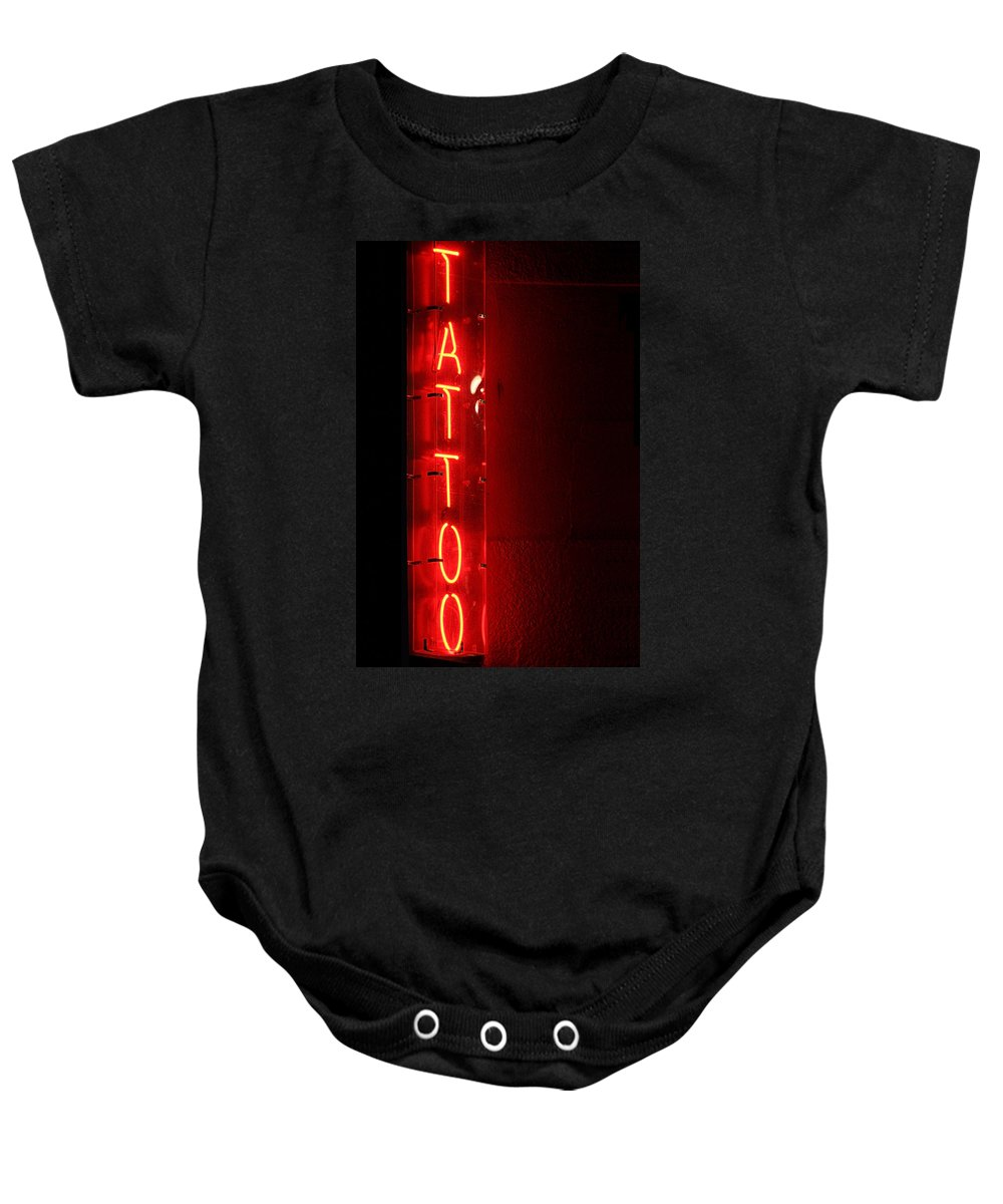 Tattoo Baby Onesie featuring the photograph Tattoo by Jeffery Ball