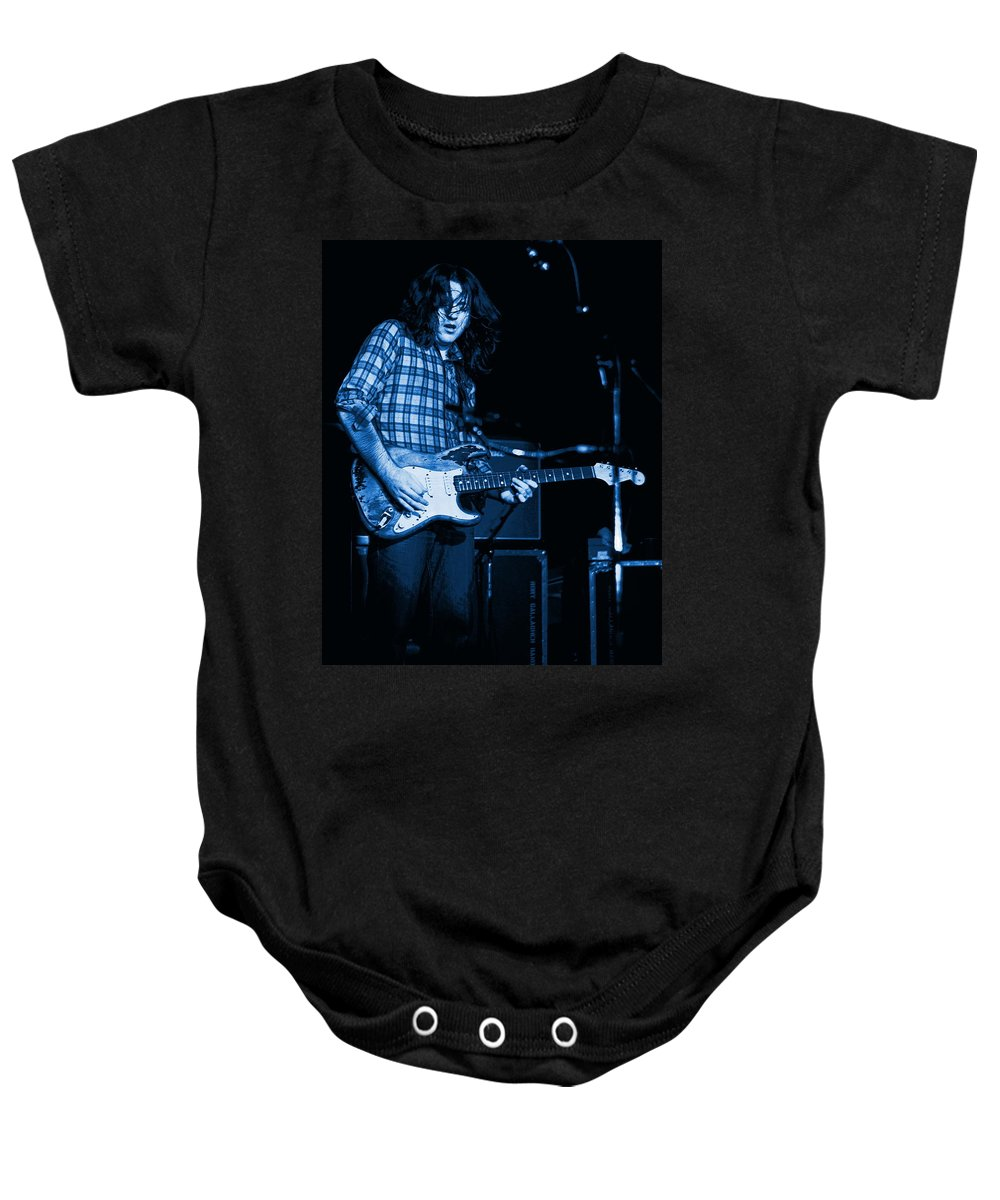 Rock Musicians Baby Onesie featuring the photograph Tattood' Lady Solo by Ben Upham