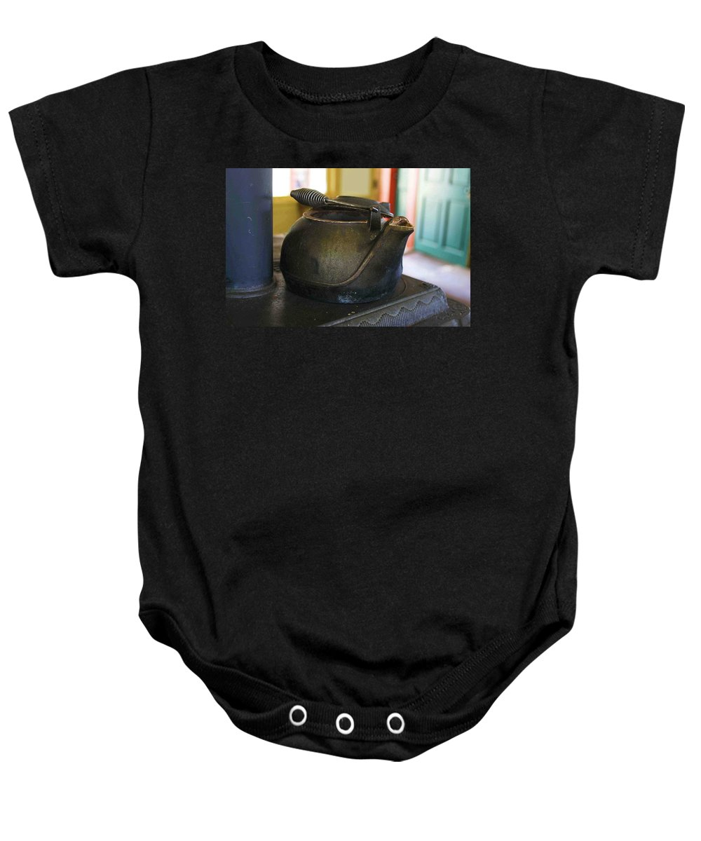 Tea Kettle Baby Onesie featuring the photograph Tea Kettle by Nelson Strong