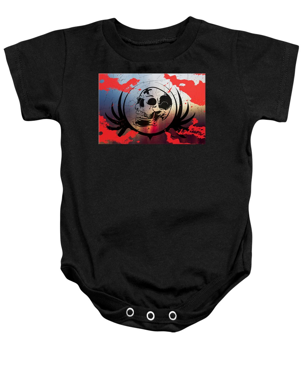Tears Baby Onesie featuring the digital art Tears Of A Clown by Michael Damiani
