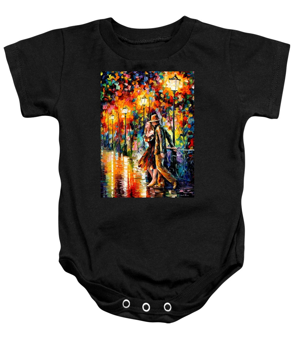 Scenery Baby Onesie featuring the painting Tempter by Leonid Afremov