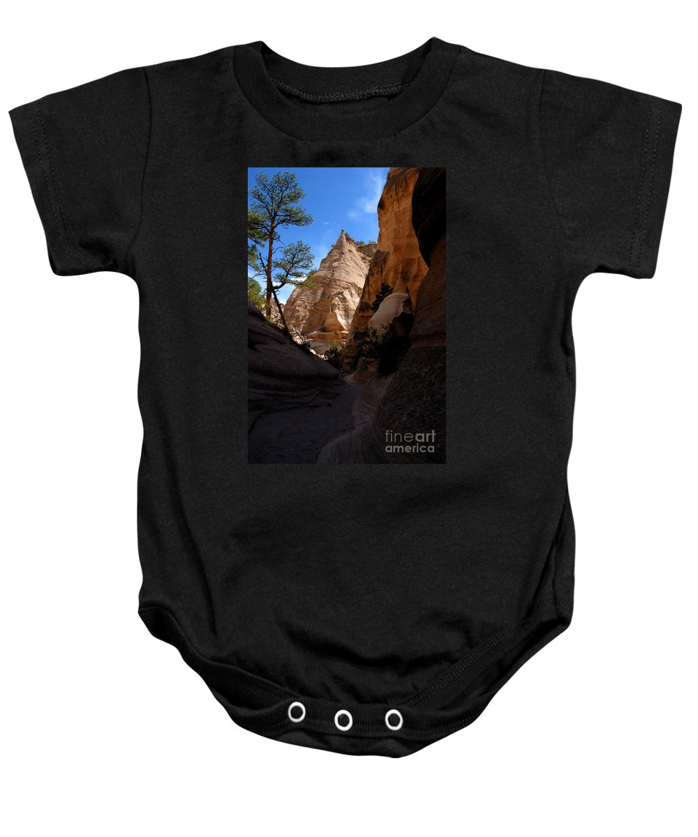 Tent Rocks Wilderness New Mexico Baby Onesie featuring the photograph Tent Rocks Canyon by David Lee Thompson