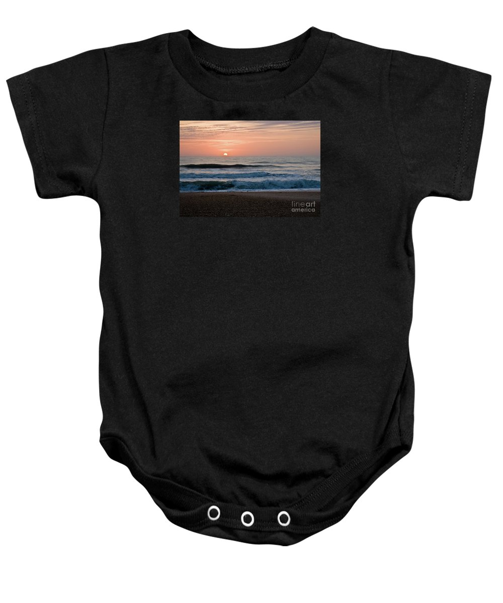 Ponte Vedra Beach Baby Onesie featuring the photograph Tequila Sunrise by Jim Macdonald