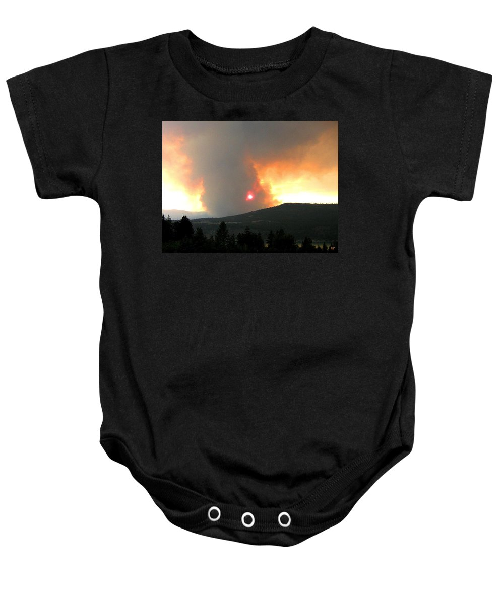 Forest Fire Baby Onesie featuring the photograph Terrace Mountain Fire 3 by Will Borden